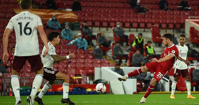 Liverpool 3-1 Arsenal, Liverpool áp đảo Arsenal, Bảng xếp hạng Ngoại hạng Anh, ket qua bong da, kết quả Liverpool vs Arsenal, Mane, Andy Robertson, Diogo Jota, BXH Anh