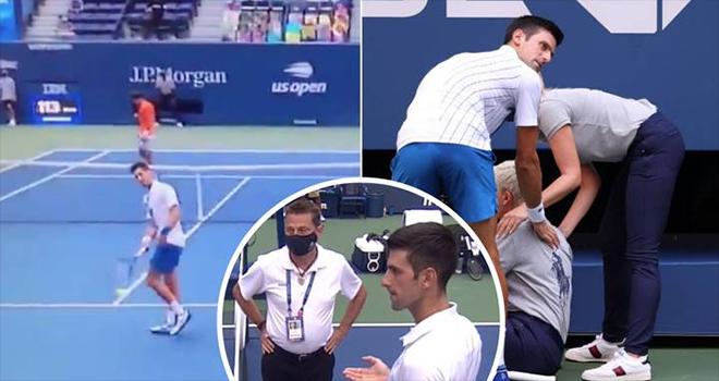 Djokovic bị loại khỏi US Open, Djokovic hành động phi thể thao, Mỹ mở rộng, Djokovic vs Busta, Djokovic đánh bóng trúng nữ trọng tài, Djokovic bị loại, kết quả US Open