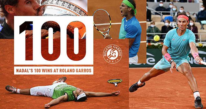 Nadal vô địch Roland Garros 2020, Nadal lập kỷ lục, Kết quả Djokovic Nadal, Ket qua Roland Garros, Pháp mở rộng, 100 trận thắng, 20 Grand Slam, Nadal, Djokovic, Federer