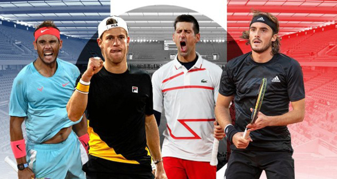 Ket qua Roland Garros, Djokovic vs Tsitsipas, Schwartzman Nadal, ket qua tennis, Djokovic đấu với Tsitsipas, Nadal đấu với Schwartzman, Roland Garros 2020, Pháp mở rộng