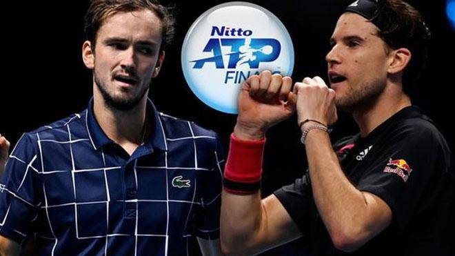 Lịch thi đấu ATP Finals 2020 hôm nay: Trực tiếp Medvedev vs Thiem. TTTV. K+PC