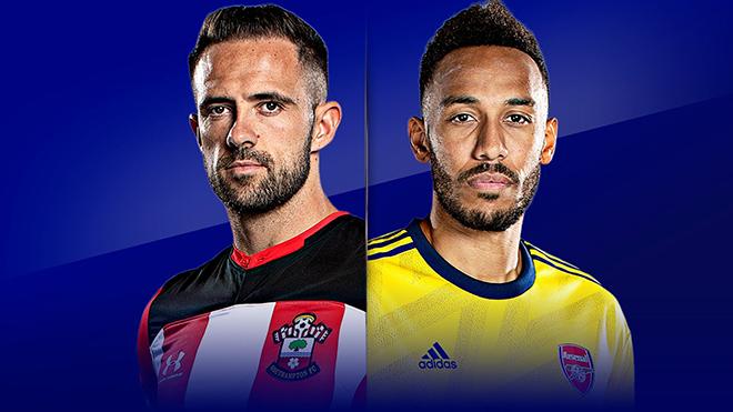 Lịch thi đấu bóng đá hôm nay: Trực tiếp Southampton vs Arsenal, West Brom vs Man City. K+, K+PM