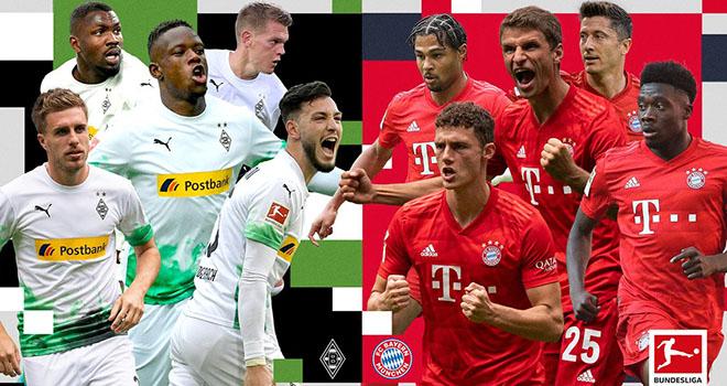 M.Gladbach vs Bayern Munich, trực tiếp bóng đá, lịch thi đấu bóng đá