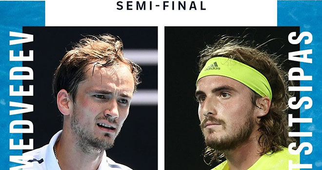 Lịch thi đấu Australian Open hôm nay, Trực tiếp Medvedev vs Tsitsipas, TTTV, Djokovic đấu với Karatsev, trực tiếp tennis, lịch thi đấu Úc mở rộng, Thể thao TV, Úc mở rộng