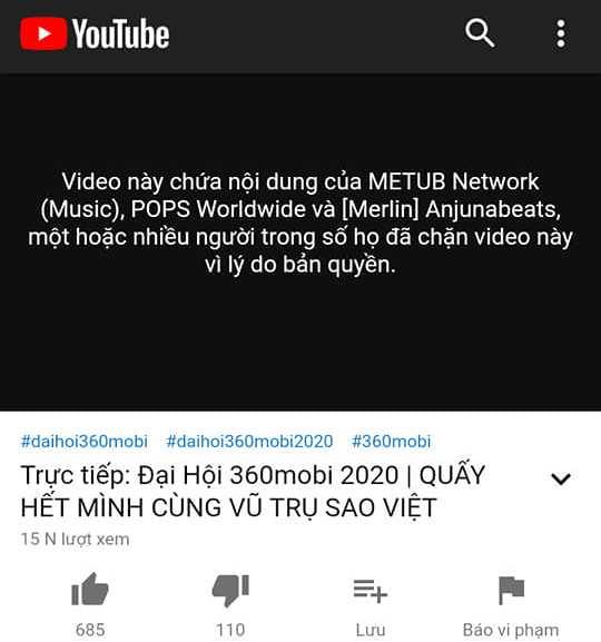 K-ICM, 360mobi, K-ICM 360mobi, Đại nhạc hội 360mobi 2020, livestream bị chặn, vi phạm bản quyền, K-ICM, nhạc bản quyền, Jack K-ICM chấm dứt, Jack K-ICM tin mới, Jack J97