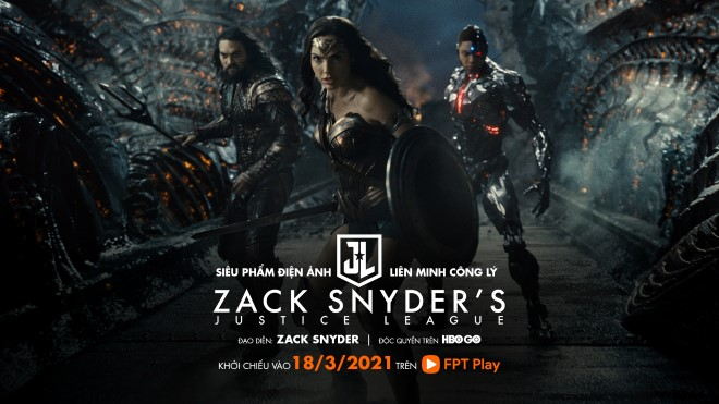 Justice League, Liên minh Công lý, Hollywood, Zack Snyder, FPT play