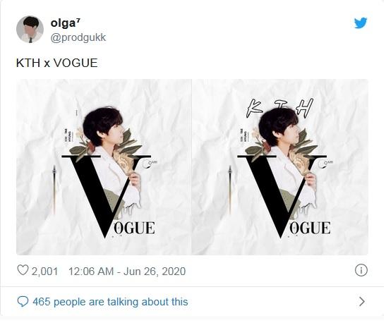 BTS, V BTS, V BTS trên Vogue, V BTS mặc màu kém nổi, V BTS chụp hình trên Vogue, fan mê mệt V BTS, V BTS mặc đồ Prada