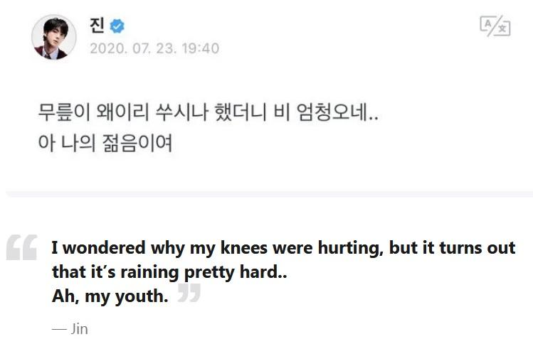BTS, Jin BTS, Jin BTS bao nhiêu tuổi, tuổi của Jin, tuổi của Jin BTS, BTS sinh năm bao nhiêu, Jin già nhất BTS, Jin bị chê già, Jin phản ứng khi bị chê già