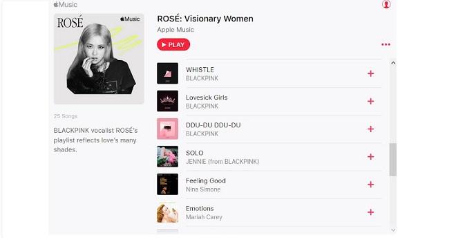 Blackpink, Rose Blackpink, Blackpink Rose, 8/3, Quốc tế phụ nữ, Nhạc ngày 8/3, Nhạc ngày 8-3, danh sách nhạc 8/3, Rose Blackink nghe nhạc 8/3, jennie, Jisoo, lisa