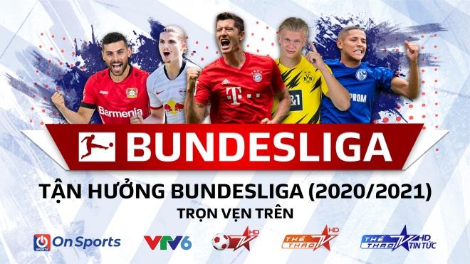 Thưởng thức Bundesliga mùa giải 2020/2021 trên sóng của VTV, VTC và VTVCab