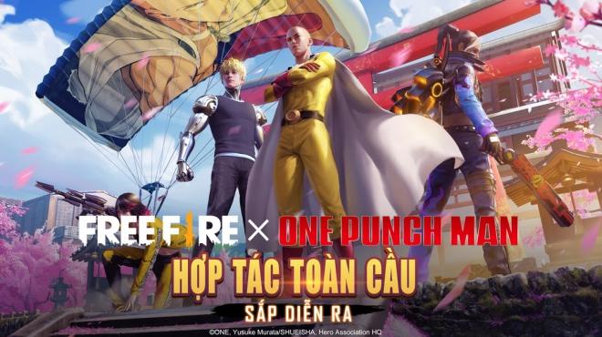 Sự kết hợp giữa game Free Fire và siêu anh hùng Nhật Bản One-Punch Man