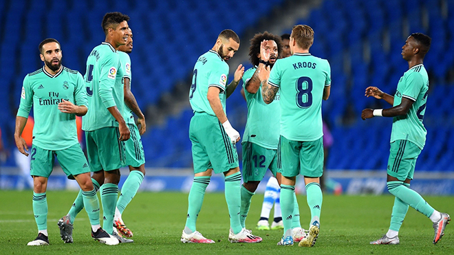 Real Madrid. Real Madrid-Sociedad. Video clip bàn thắng Real Madrid vs Sociedad. Video Real Madrid. Kết quảbóng đá Tây Ban Nha La Liga. BXH bóng đá Tây Ban Nha