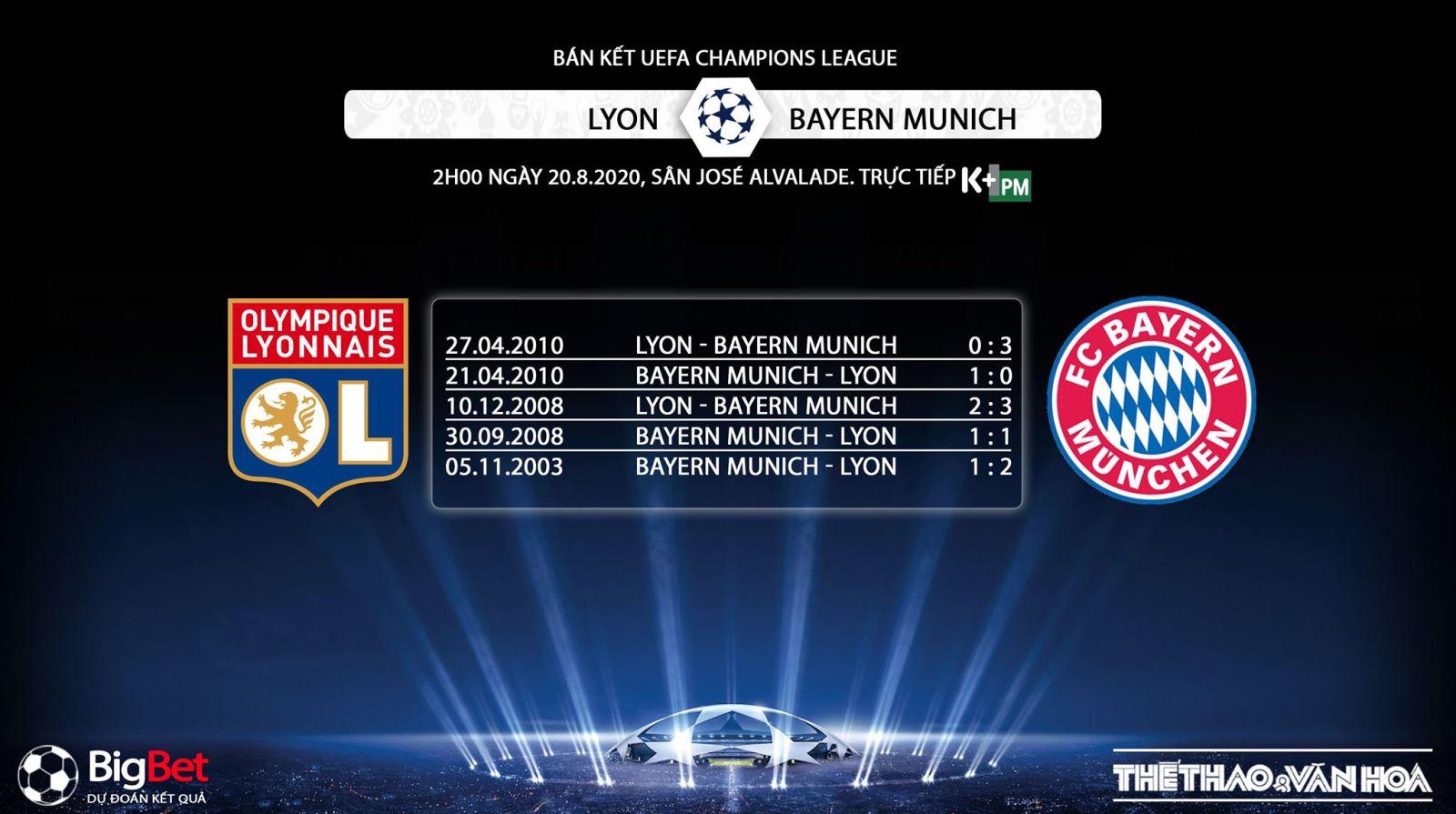 Keo nha cai, kèo nhà cái, Lyon vs Bayern Munich, Bán kết cúp C1châu Âu, Bán kết Champions League, K+, K+PM trực tiếp bóng đá, Kèo bóng đá Bayern, Kèo Bayern Munich