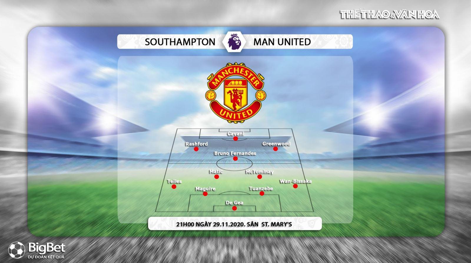 Keo nha cai, kèo nhà cái, Southampton vs MU, truc tiep bong da, ngoai hang Anh vòng 10, kèo bóng đá, trực tiếp MU đấu với Southampton, trực tiếp bóng đá Anh, kèo MU, K+PM
