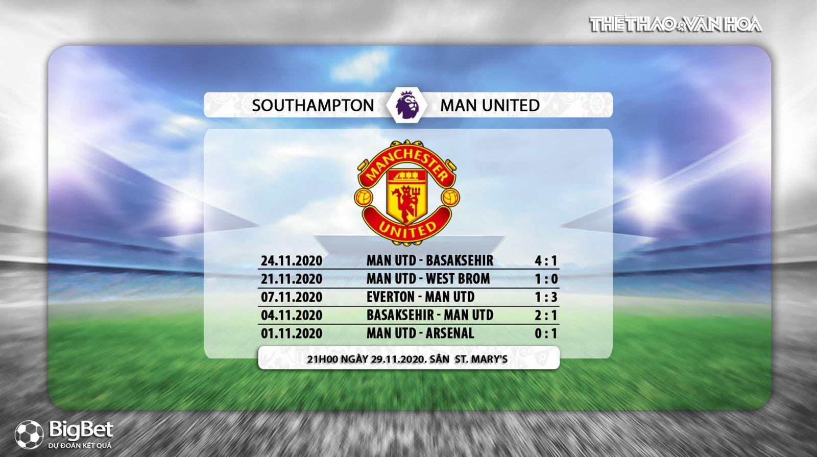 Trực tiếp Southampton vs MU, Truc tiep bong da, K+PM, Ngoại hạng Anh, Xem MU, MU vs Southampton, xem bóng đá trực tuyến Southampton đấu với MU, trực tiếp MU