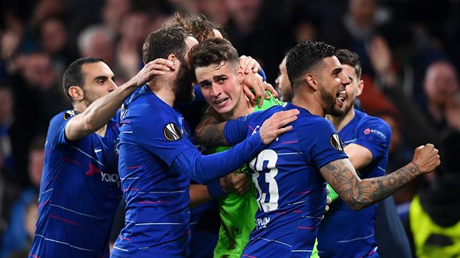 Chelsea 1-1 Frankfurt (pen: 4-3, tổng: 2-2): Kepa là người hùng, Chelsea gặp Arsenal ở chung kết