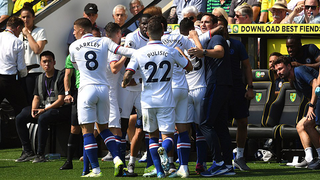 ket qua bong da, kết quả bóng đá, Norwich 2-3 Chelsea, kết quả vòng 3 ngoại hạng Anh, kết quả Chelsea, kết quả bóng đá Anh, trực tiếp bóng đá, Lampard, ngoại hạng Anh