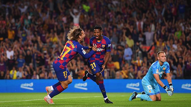 VIDEO Barca 5-2 Valencia: Thần đồng Ansu Fati tỏa sáng, Barca mở tiệc bàn thắng ở Camp Nou