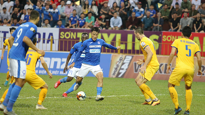 xem bóng đá trực tiếp, SLNA đấu với Quảng Ninh, truc tiep bong da hôm nay, Sông Lam Nghệ An, VTV5, VTV6, Bóng đá TV, FPT Play, V League 2019, trực tiếp bóng đá, bong da