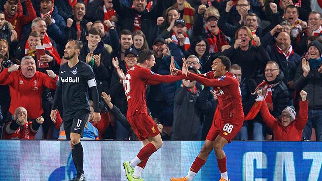Bong da, bóng đá, ket qua bong da, kết quả bóng đá, lich thi dau bong da hom nay, kết quả cúp C1, kqbd, cúp C1, video Liverpool 4-3 Salzburg, Liverpool vs Salzburg, Salah