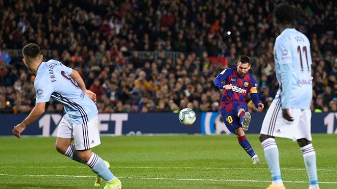 Ket qua bong da, kết quả bóng đá, Barcelona 4-1 Celta Vigo, Barca Celta Vigo, kết quả bóng đá Tây Ban Nha, BXH Tây Ban Nha, Messi, Messi lập hat-trick sút phạt, bong da